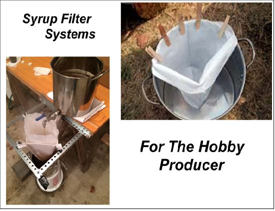 Syrup filter systems for the hobby producer