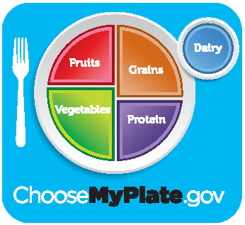 MyPlateGuided Rainbow of Colors Choice System for Food Pantry
