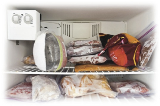 freezer space with multiple packages