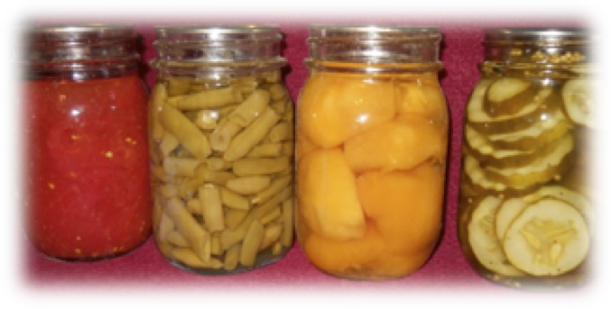 jars of home canned food