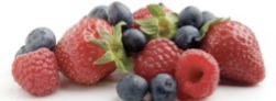 strawberries, blueberries, raspberries