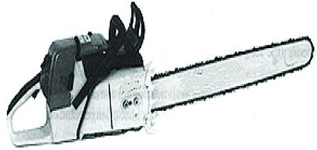 Black and white chain saw image