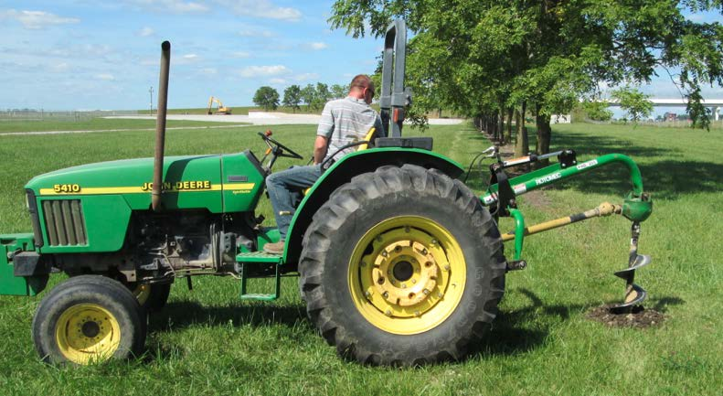 Safety Practices for a Tractor Mounted Post-Hole Digger