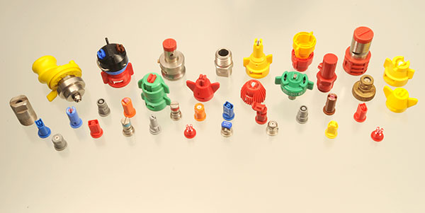 Wide variety of spray nozzles.