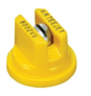 Spray nozzle that is yellow with metal center