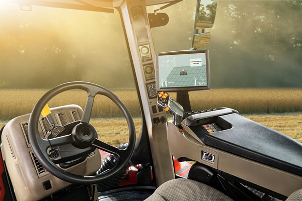 Tractor cab with technology installed