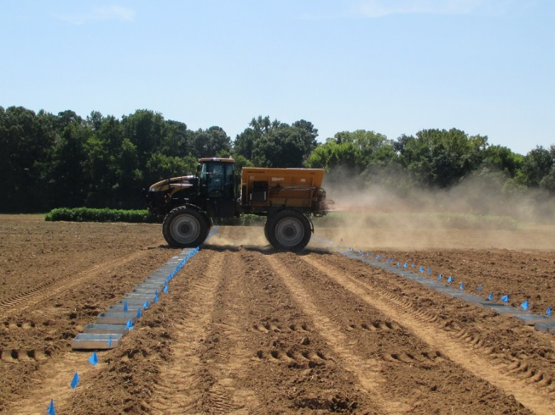 Photo of example pan test for a spreader