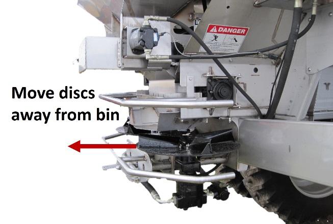 Dual spinner-disc fertilizer spreader Type 2 adjustment recommendations